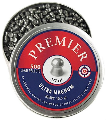 Crosman LUM77 Premier Domed Field 10.5g Target Pellets in a Tin (500 Count)