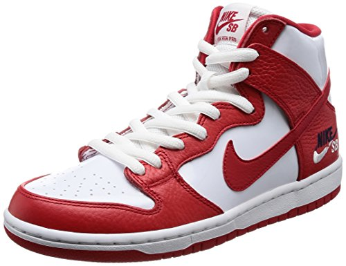 Nike Men's SB Zoom Dunk High Pro University/Red/University/Red Skate Shoe 9 Men US