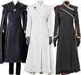 Cosplaysky Game of Thrones Costume Season 7 Daenerys Targaryen Dress Cape Small