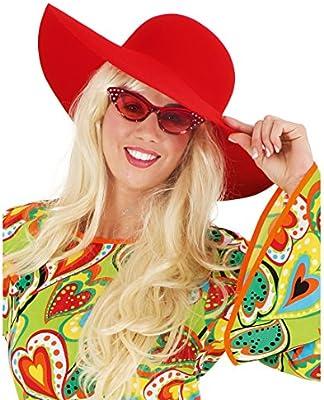 70er Camuflaje Sombrero Hippie para Mujer Sommerhut años Maxi ...