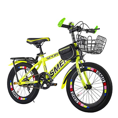 """Children's bicycle LLL 18/20/22 Inch Boys and Girls Cycling 6-15 Years Old Schoolchildren Single Speed Mountain Bike Racing (Size : 22"""")"""