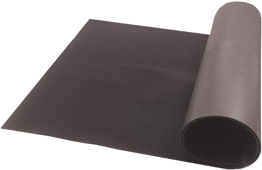Resilia V-Groove Professional Utility Runner – Brown, 27 Inches Wide X 25 Feet Long, Heavy Duty Floor Runner, Made in The USA