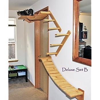 cat tree modular wall mounted climbing furniture shelves bridges and perches. Black Bedroom Furniture Sets. Home Design Ideas