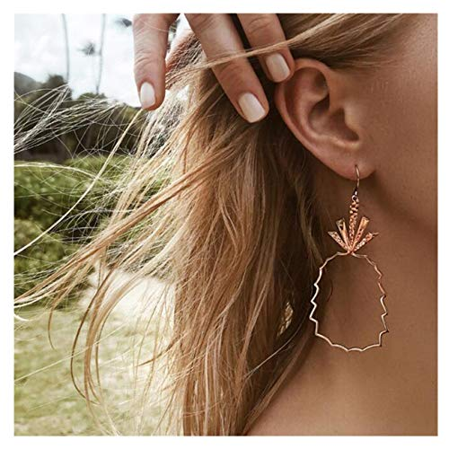 Clearance! Punk Vintage Boho Stylish Cute Pineapple Earrings Long Chain Stud Earrings for Women Girls (Gold) by Challyhope - Earrings (Image #3)