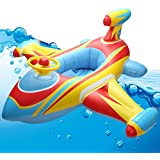 HSOMiD Inflatable Airplane Baby Kids Toddler Infant Swimming Float Seat Boat Pool Ring (D type)