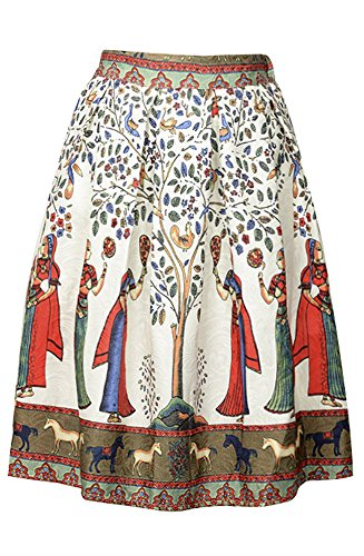harvest-the-fruits-of-a-woman-printed-with-swing-dress-pleated-midi-skater-skirt