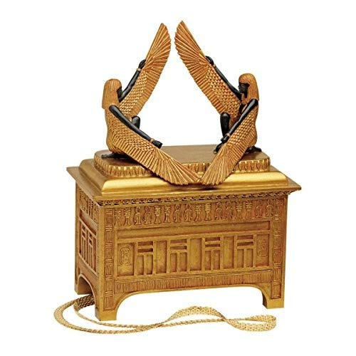 Jewelry Religious Designs - Religious Gift Trinket Box - The Ark of The Covenant Jewelry Box: Grande - Egyptian Statues