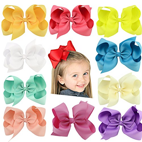 22 PCS Hair Bows Clips,SS SHOVAN Bows for Girls Boutique Grosgrain Ribbon Multi-colored Hand-made for Baby Littele Girl Teen Toddler Kid by SS SHOVAN