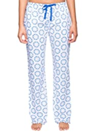 Noble Mount Womens Premium 100% Cotton Poplin Lounge/Sleep Pants