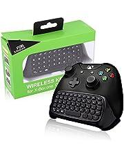 BestFire Xbox One Game Controller Tastatur 2.4G Mini Wireless Chatpad Message Audio-Buchse für Microsoft Xbox One Schwarz - Einfaches Pairing