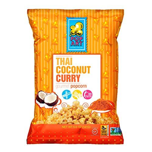 Pop Art, Popcorn Thai Coconut Curry, 5 Ounce