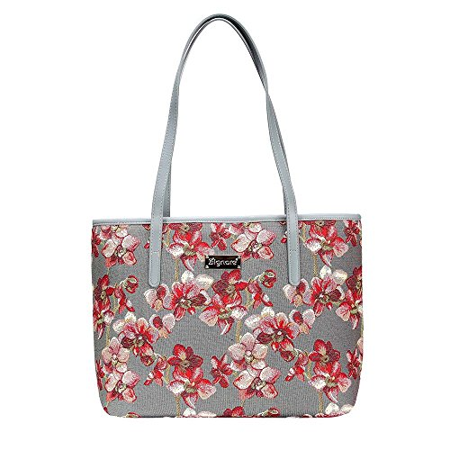 Orchid Shoulder Tote Bag By Signare Womens Fashion Evening Side Wild Orchid Handbags Coll Orc