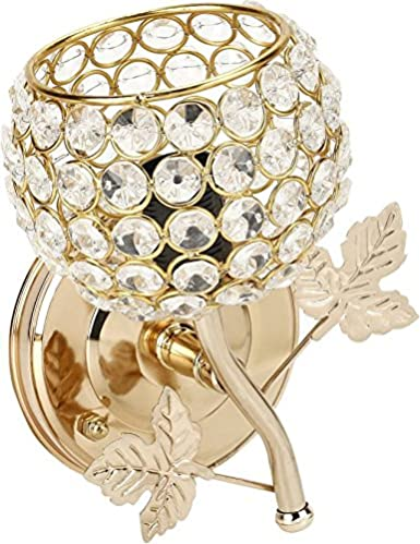 JaipurCrafts Diamonds in Gold Rose Sconce Wall Lamp/ Night Lamp/ Home decoration Lamp For Diwali Decoration
