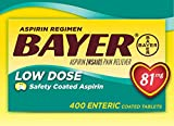 Bayer® Low Dose 81 Mg., 400 Tablets - COS