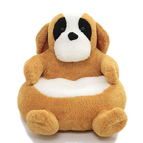 YXCSELL Furniture, Kids Chair PP Cotton Cartoon Dog Animal Lovely Character Sofa, Seat Pad Circular Soft Comfortable Kids Sofa by YXCSELL