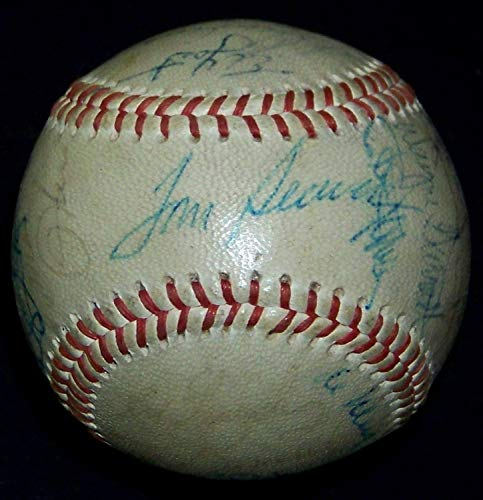 Tom Seaver Yogi Berra Vintage 1969 Mets Team Autographed Signed Memorabilia Baseball 29 Autos JSA Loa