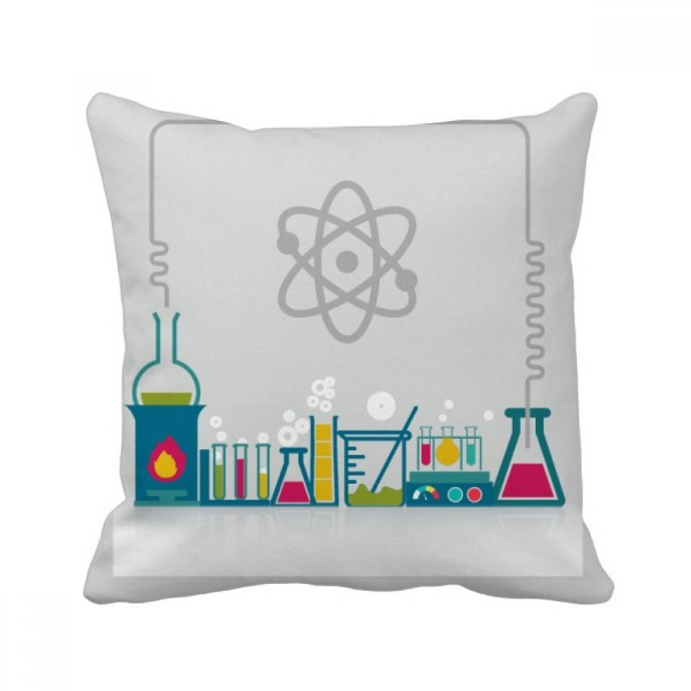 beatChong Chemical Reaction Vessel Tool Chemistry Square Throw Pillow Insert Cushion Cover Home Sofa Decor Gift