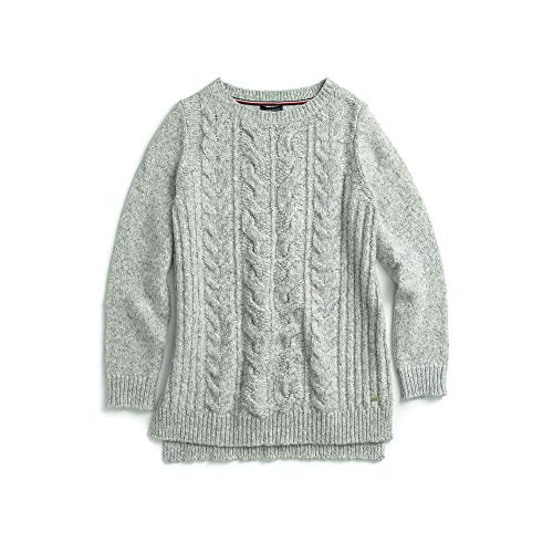 Tommy Hilfiger Women's Adaptive Cable Knit Sweater, Grey Heather X-Small