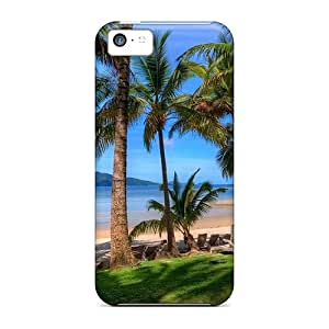 5c Scratch-proof Protection Cases Covers For Iphone/ Hot Beach View From Road Phone Cases
