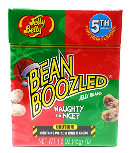 Bean Boozled Naughty or Nice Jelly Belly Jelly Beans 1.6 oz Flip Top Box, (5th edition) -