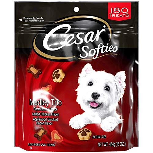 CESAR SOFTIES Dog Treats Medley Trio, 16 oz. Pouch (180 Treats)