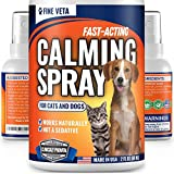 Cat Anxiety Calming Aid - Natural Oil Calming Spray for Cats and Dogs - Made in USA - Relieve Stress, Anxiety, Scratching - Works for Vet Visits, Travel, Storms and Fireworks - Long-Lasting Effect