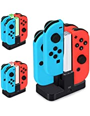 Joycon Charging Dock, [New Version] Diyife Switch Controller Charger, Switch Charging Dock, Controller Charger for Nintendo Switch, 4 in 1 Joy con Charger Station with LED Indicator