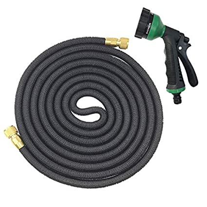 Dunnomart European Version 25 50FT Garden Hose Expandable Magic Rubber Soft  Plastic Hose Spray Tube