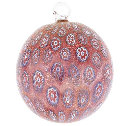 GlassOfVenice Murano Glass Christmas Ornament - Red Millefiori