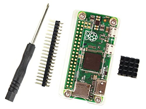 Raspberry Pi Zero W Acrylic Case, Heat Sink, Hardware & Gpio
