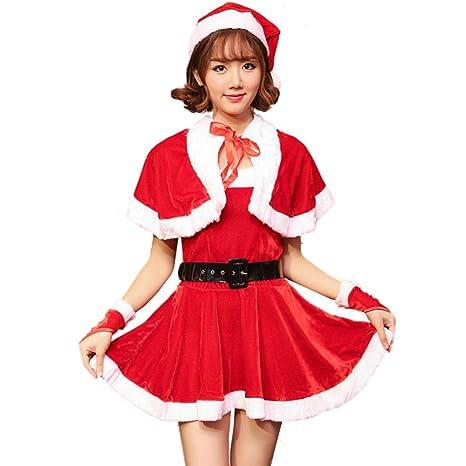 Qqwe Disfraz De Santa Claus Para Mujer Vestido De Fiesta
