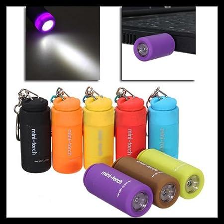Lampe de poche LED lampe de poche lampe de poche portable mini torche avec porte-cl/és mousqueton porte-cl/é par TheBigThumb bleu