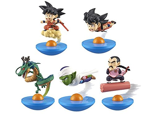 Dragon Ball Goku (flying), Goku (cloud surfing), Piccolo, Shenron, Tao PaiPai, Yura-Kore Mini-Figure Set of 5