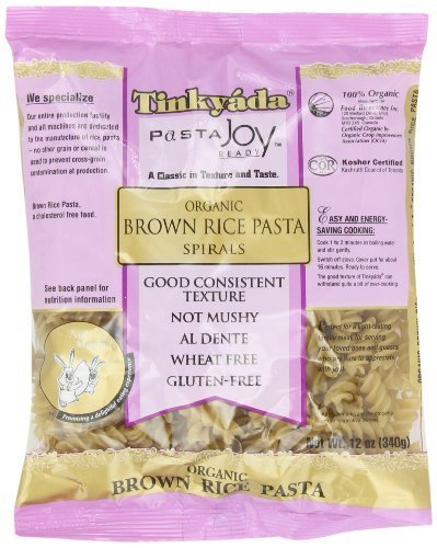 (Tinkyada Gluten Free Organic Brown Rice Pasta Spirals, 12-Ounce (Pack of 6) )