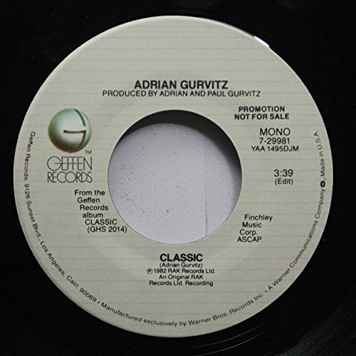 Adrian Gurvitz - Adrian Gurvitz 45 Rpm Classic / Classic - Zortam Music