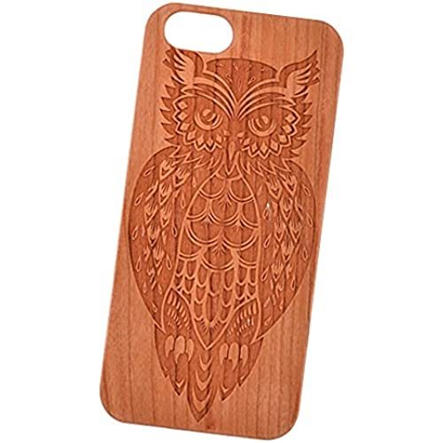 Mandala Owl Engraved Cherry Wood Cover for iPhone and Samsung phones Wood - Samsung Galaxy s7 Sales