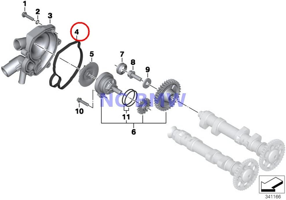Clutch Cover Gasket from Athena for BMW F 800 GS /& F 800 GS Adventure 2016