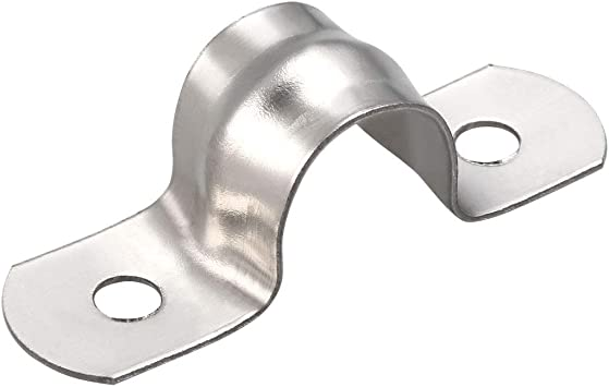 10 piezas sourcing map Correa r/ígida para tubos de 12 mm acero inoxidable 304 abrazaderas de 2 orificios