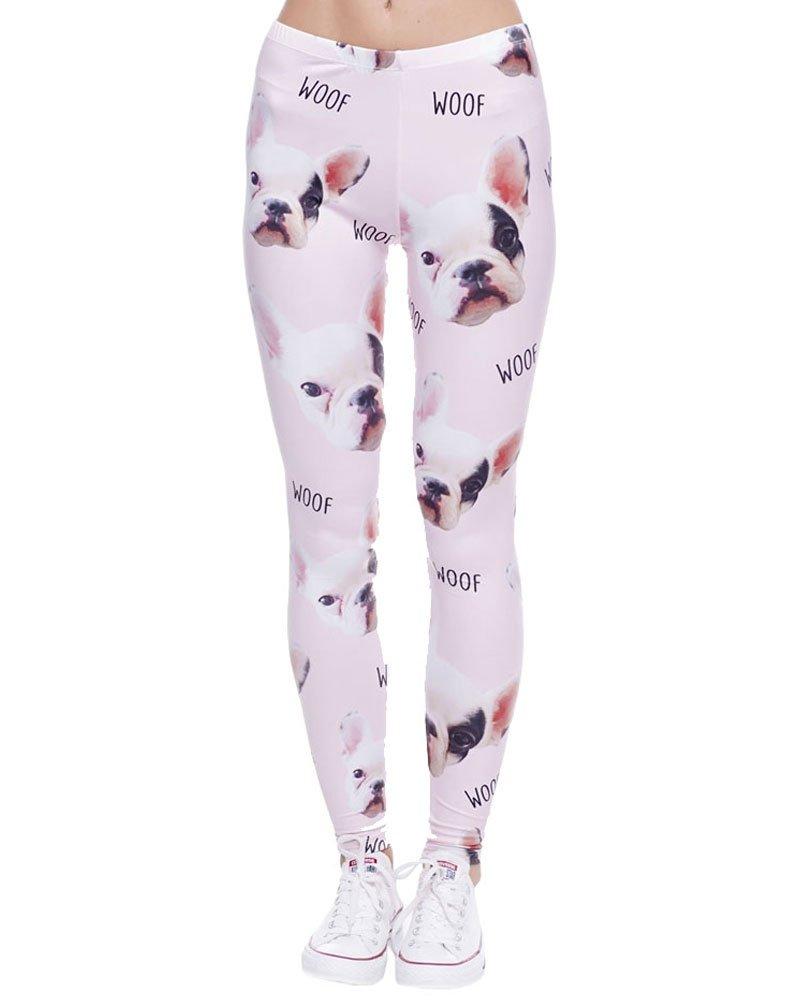 IDSK Leggings PANTS レディース B071SKSH36 Pink Pug Pink Pug
