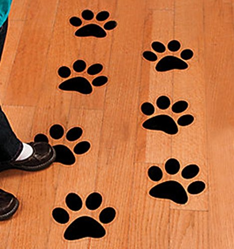 Black Bear Paw Prints - Paw Print - Floor or Wall Clings - 12 pack