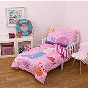 Little Tikes 4 Piece Mermaid Toddler Bedding Set