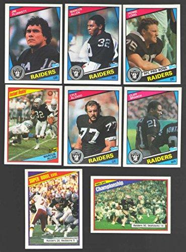 1984 Los Angeles Raiders (1984 Topps Football Team Set - LOS ANGELES / OAKLAND RAIDERS w/ HOWIE LONG RC)
