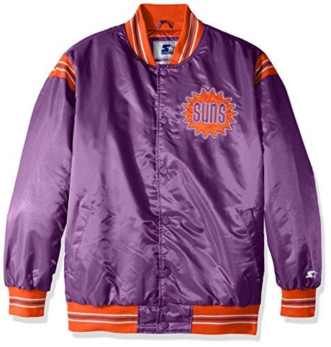 STARTER NBA Phoenix Suns Men's The Enforcer Retro Satin Jacket, Large, Purple