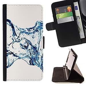 For Samsung Galaxy E5 E500 Case , Water Effect minimalistas Escaleras- la tarjeta de Crédito Slots PU Funda de cuero Monedero caso cubierta de piel
