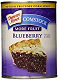 Comstock More Fruit Pie Filling and Topping, Blueberry, 21 Ounce