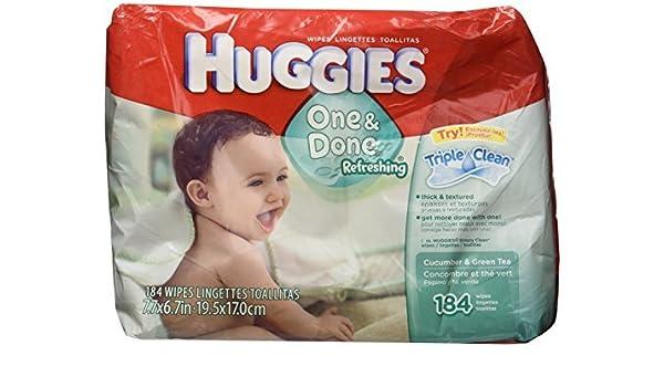 Huggies Naturally Refreshing Thick-N-Clean Baby Wipes, Cucumber and Green Tea, 184 count. by Huggies: Amazon.es: Salud y cuidado personal