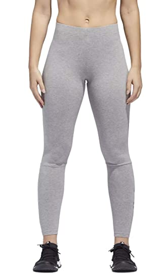 0358854eb00 adidas Women s Essentials Linear Tights Medium Grey Heather High-Res Blue  X-Large