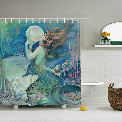 - Ponbara 12 Hooks Bathroom Shower Curtain Christmas Halloween Atmosphere Landscape Shower Curtains Durable Waterproof Fabric Bathroom Curtain Bath Curtain Sets with。
