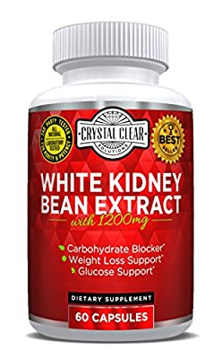 Pure White Kidney Bean Extract- Best for Weight Loss, Carb Blocker and Reduces Fat From Forming (60 Caps)