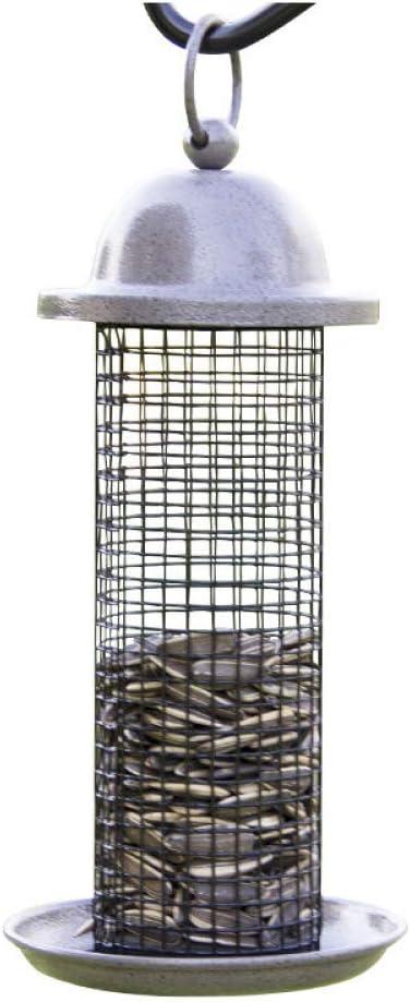 Comedero Pajaros Exterior Colgante, Comedero Colgante Para Pájaros - Para Exteriores - Metal Para Balcón, Pajarera, Pajarera, Para Pájaros Silvestres,Grey